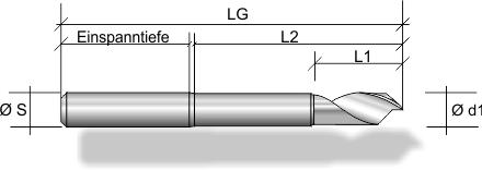 Alu-Fräser F120 mit freigelegtem Hals