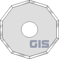 Zund 10-edged rotary blade Z50 (3910335)